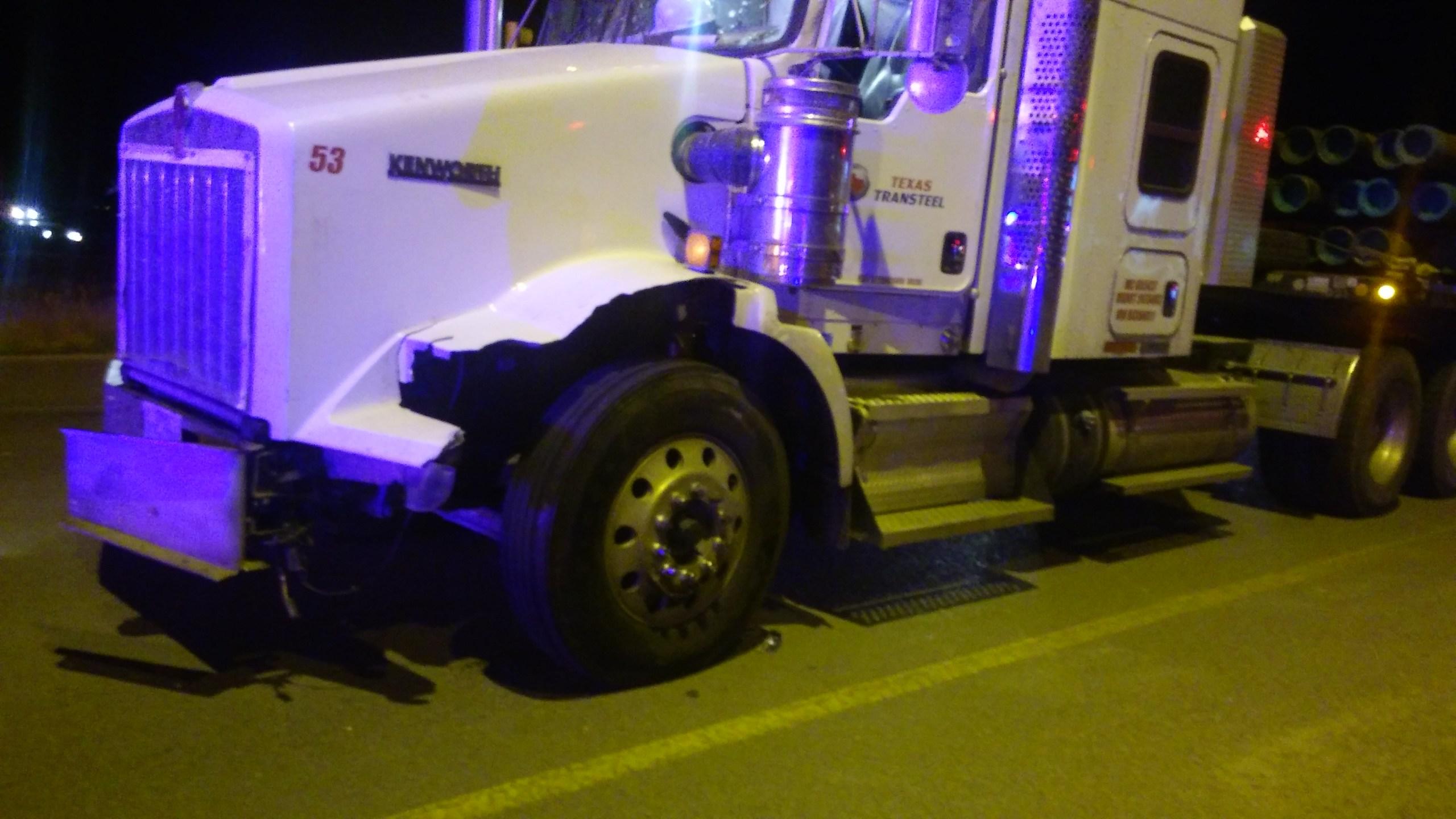Semi Truck and Ambulance Collide in Rollover Accident