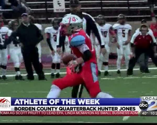 Athlete of the Week- Borden County QB Hunter Jones_97754163