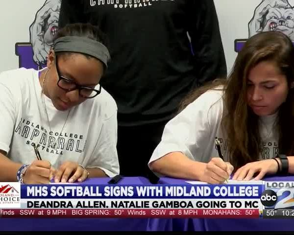 Two MHS softball players sign with Midland College_45373415