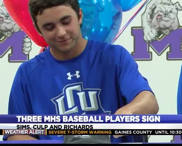 Three Midland High Baseball Players Sign Letters of Intent_86191119