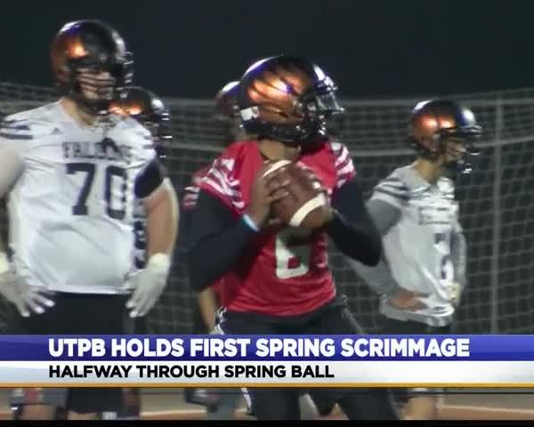 UTPB Football Completes First Spring Scrimmage_14591649