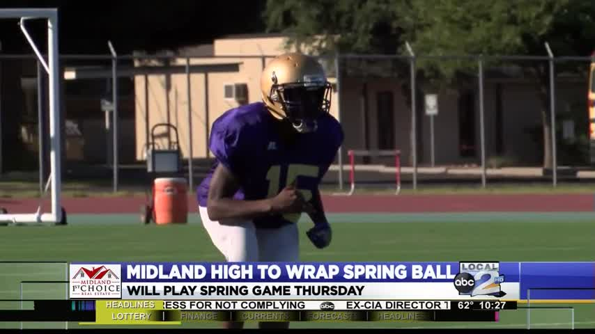 Midland High Prepping for Spring Game_06460069