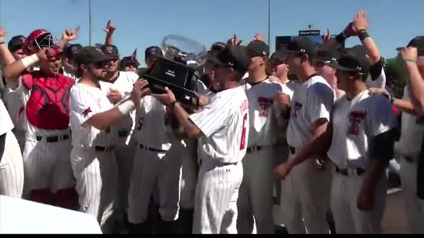 Texas Tech Baseball Wins Back to Back Big 12 Titles_53065870
