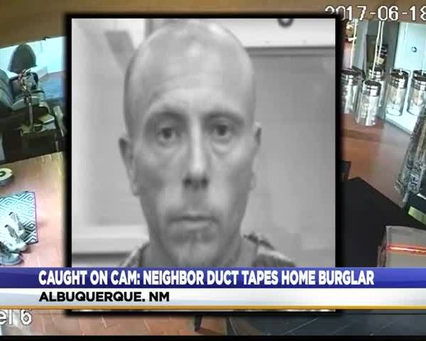 Neighbor Duct Tapes Home Burglar_83658027