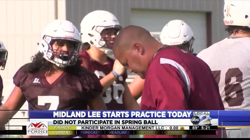 Midland Lee begins football practice_85985360