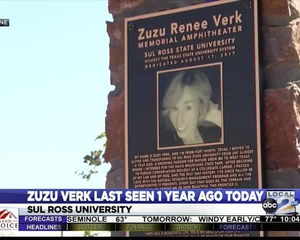 Zuzu Verk went missing one year ago today.