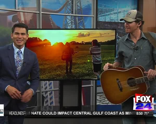 Curtis Grimes Previews New Song on Fox 24's AM Live Show