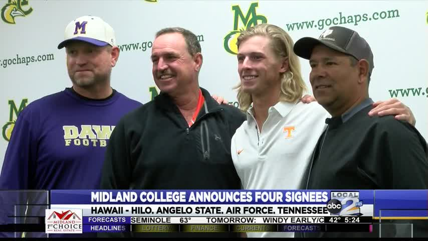 Midland College Shows Off Four Signees_98875082