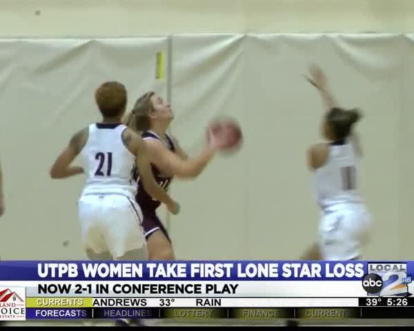 UTPB Women Talk First Conference Loss_16417760