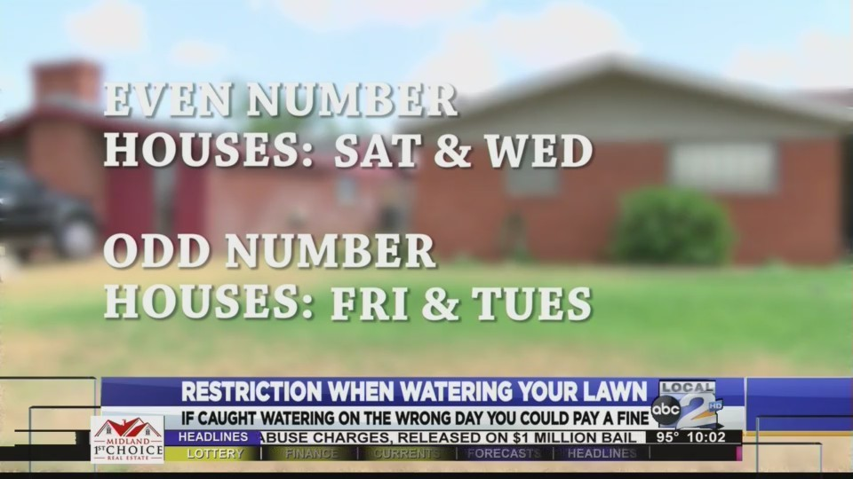 Restriction when watering your lawn