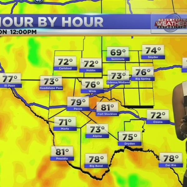 Temperatures warmer than average this weekend