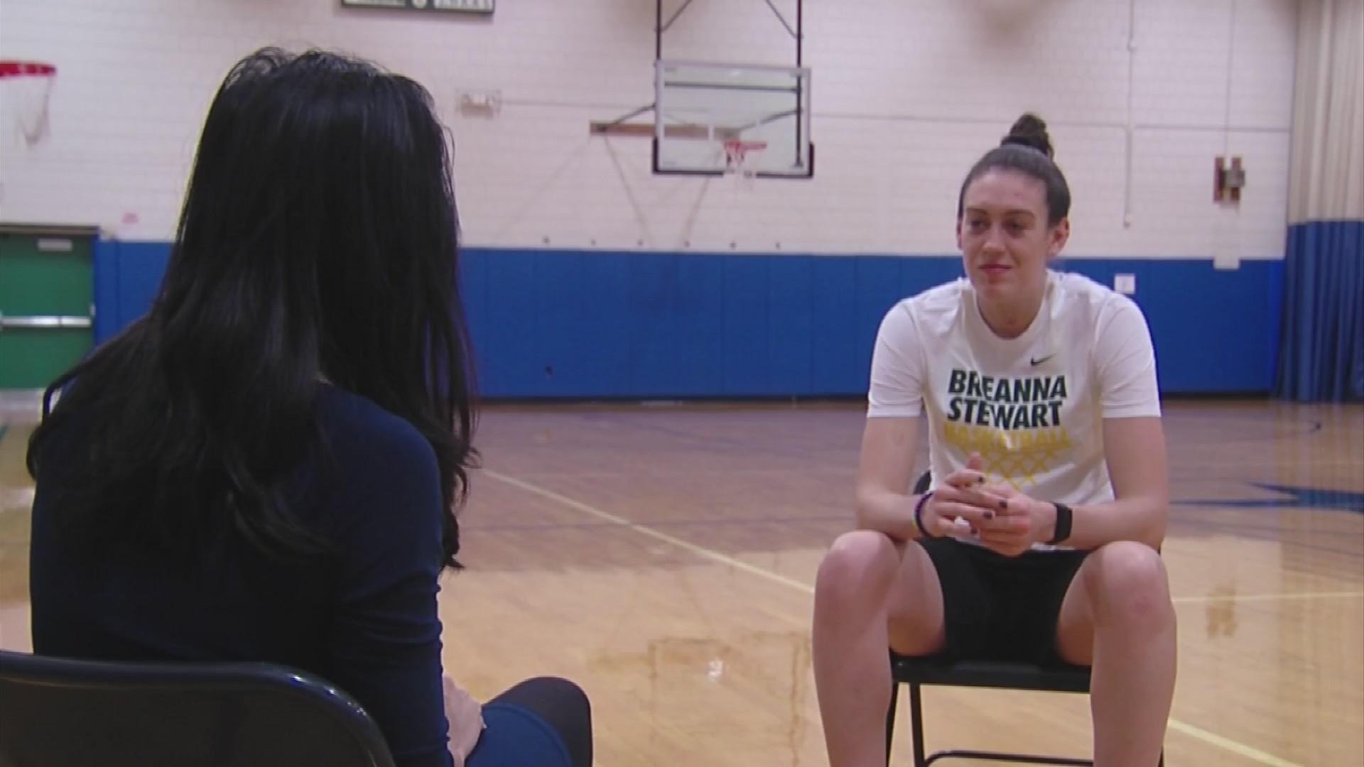 VIDEO: WNBA star, Olympic gold medalist Breanna Stewart aiming beyond arc to impact world