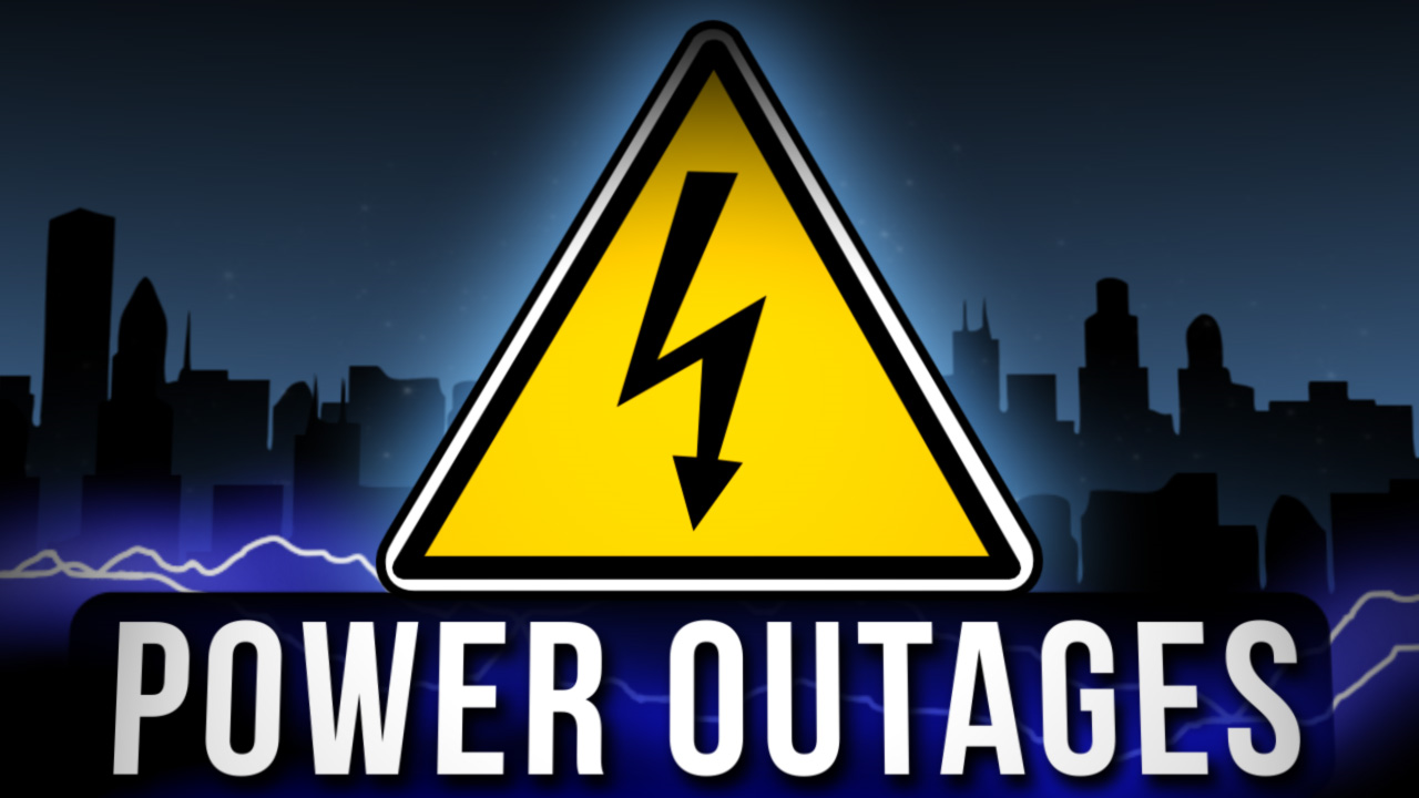 Power outages graphic