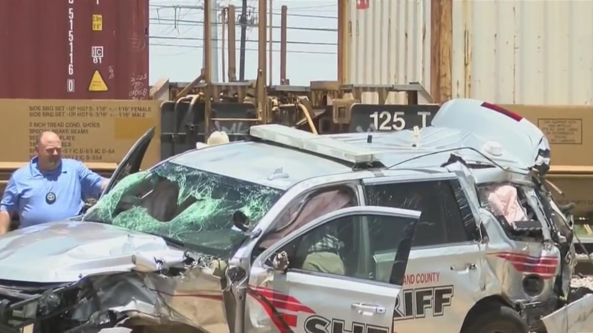 Midland Co  Sheriff's Deputy hit by train