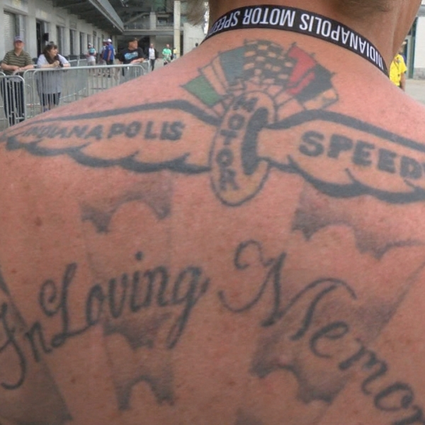 Tattoos at Indianapolis Motor Speedway for Indianapolis 500