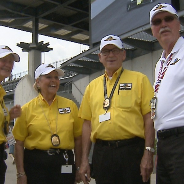 Yellow shirt love at Indianapolis Motor Speedway