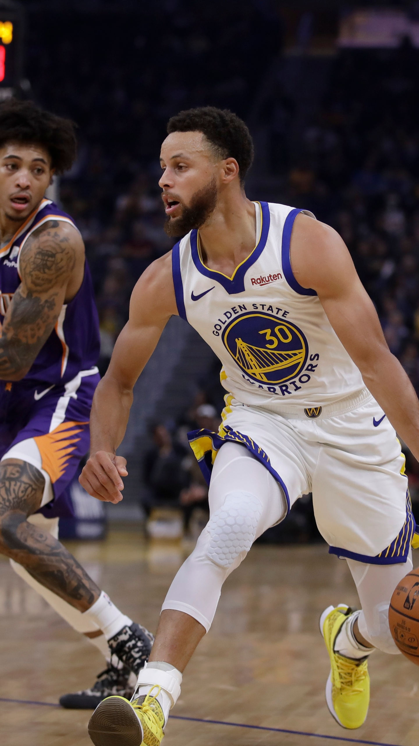 Kelly Oubre Jr., Stephen Curry