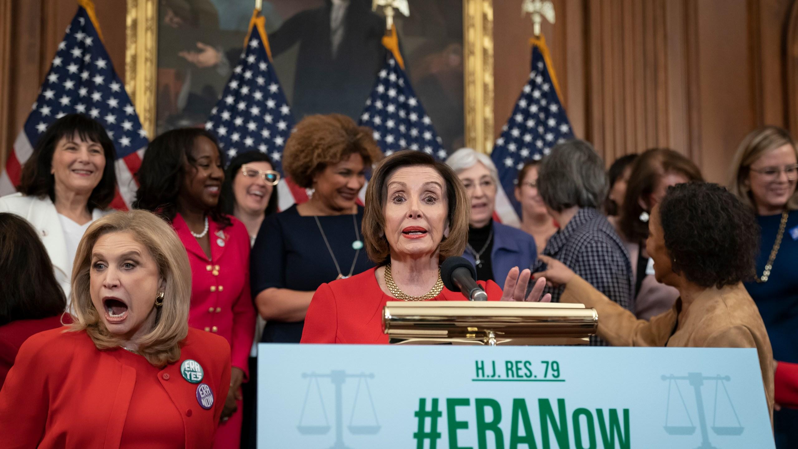 Nancy Pelosi, Carolyn Maloney