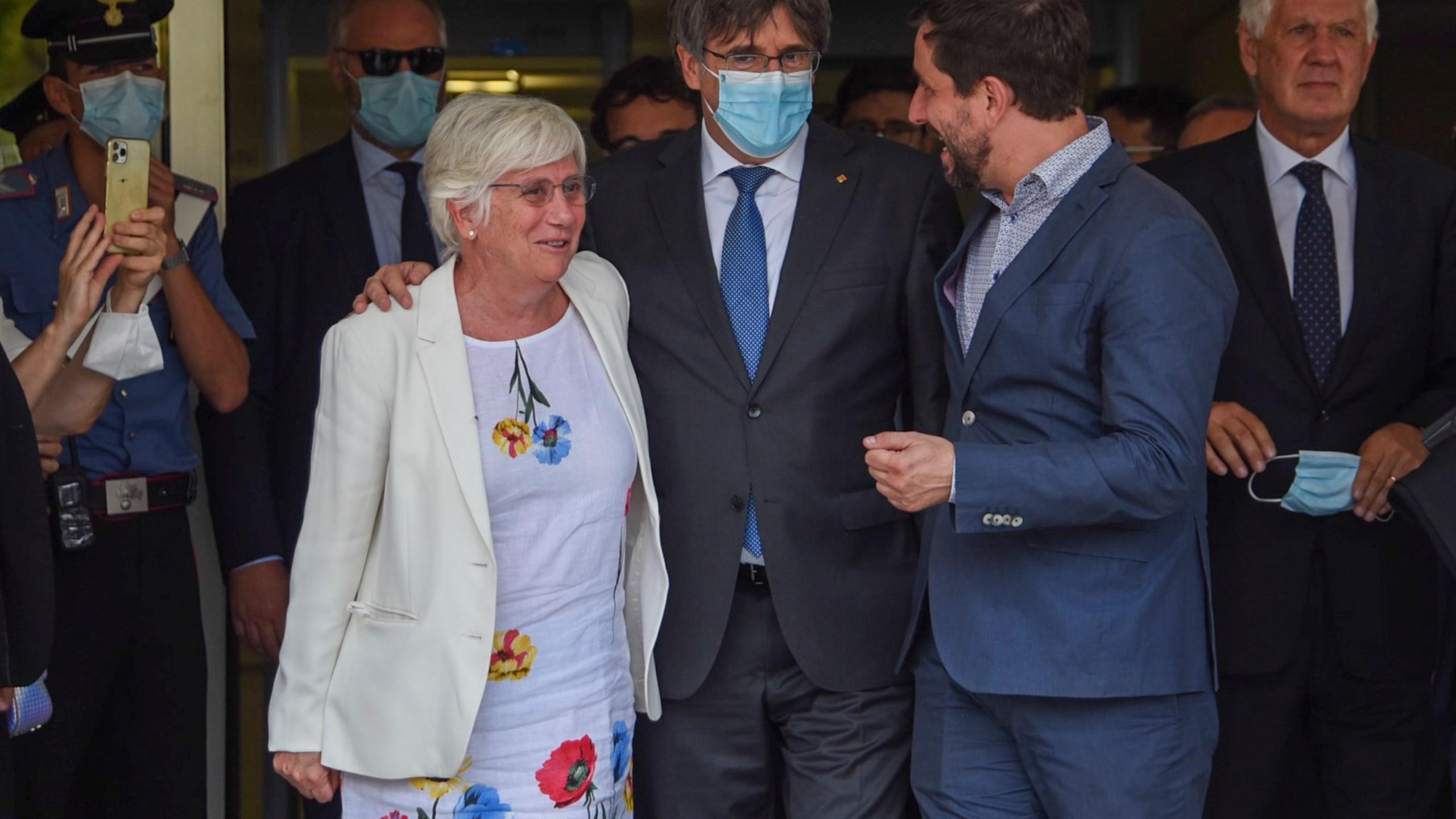 Carles Puigdemont, Agostinangelo Marras, Antoni Comin, Clara Ponsati